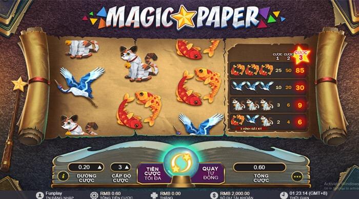 Slot game cuộn giấy ma thuật