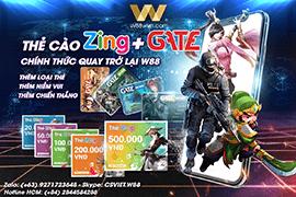 Nhà cái nạp tiền bằng thẻ zing vs gate W88