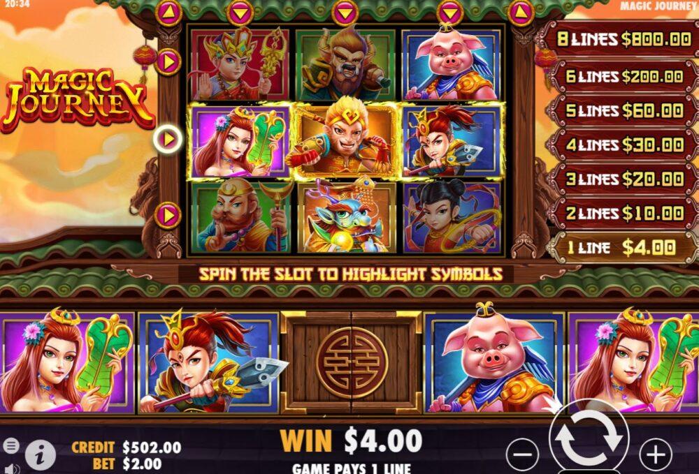 Tỷ lệ trả thưởng của slot game Magic Journey khá hấp dẫn